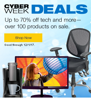 Cyber Week/Cyber Monday Promotions