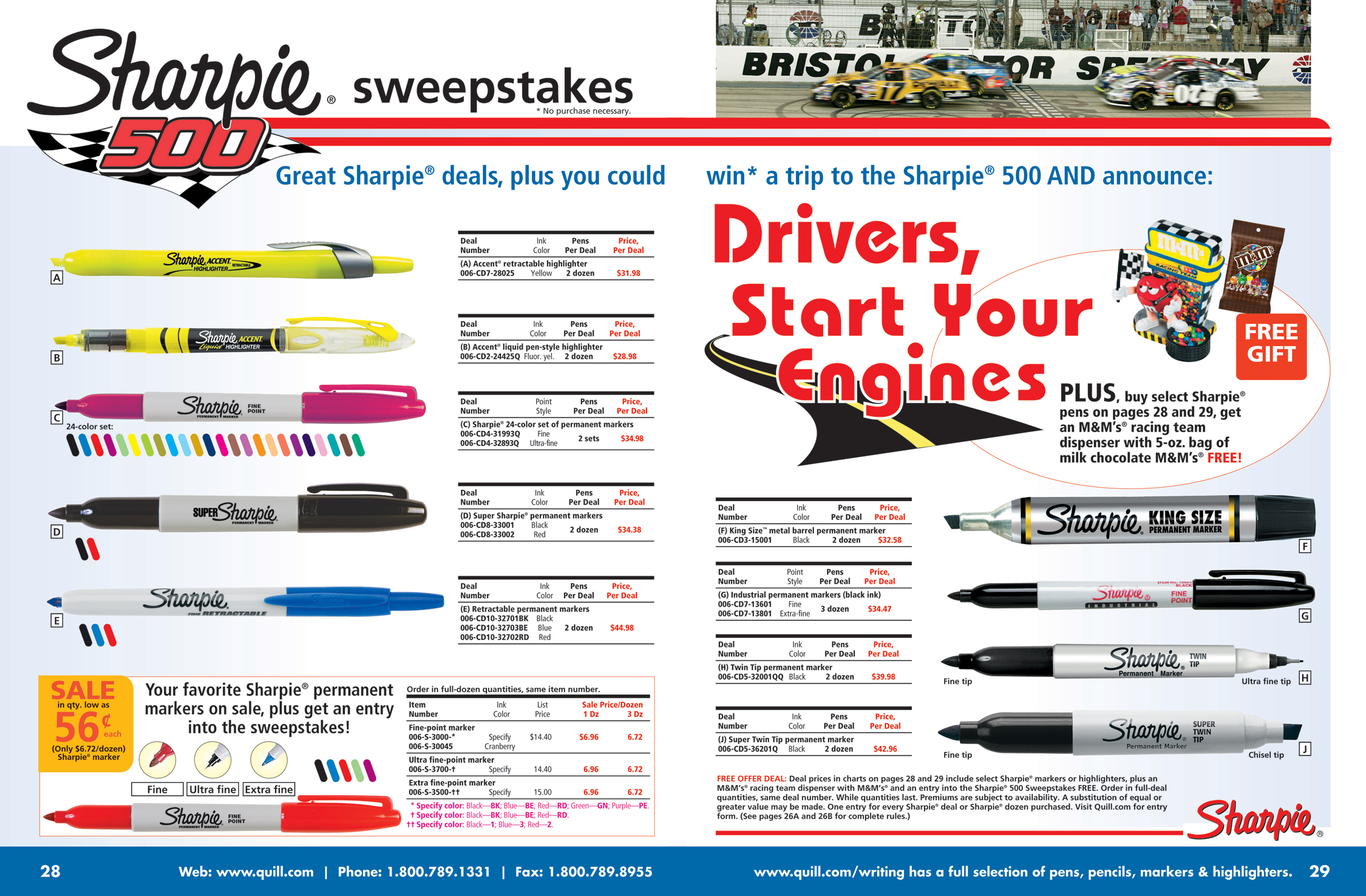 Sharpie Sweepstakes Spread