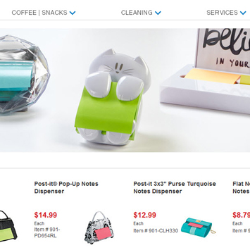 Post-it® Dispensers product page.