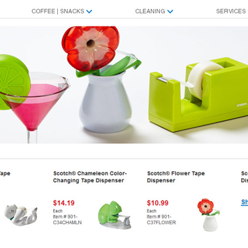 Tape Dispenser product page.