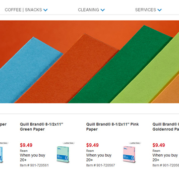 Colored Paper product page.
