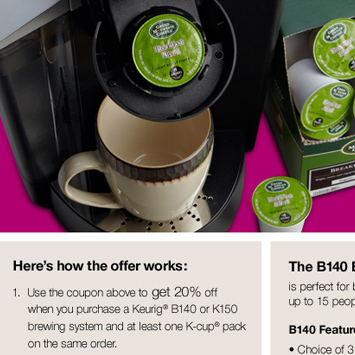 April Keurig® promotion.