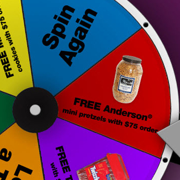 Wheel of Savings promotion.