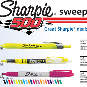 Sharpie Sweepstakes Catalog Spread.